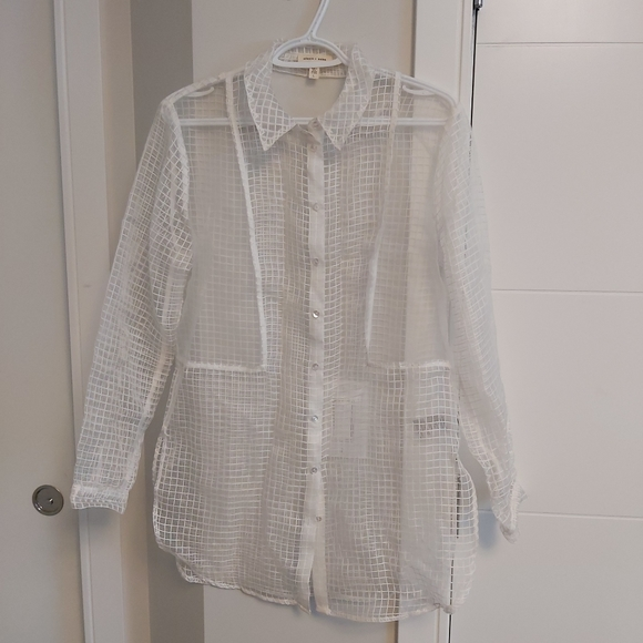 UO sheer button-up